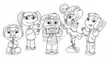 10988072-ragazzi-cartoon-illustrare-i-cinque-sensi