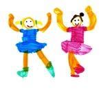dance disegni bimbi